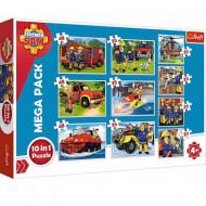 Puzzle Pompierul Sam 10 in 1