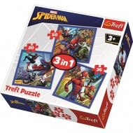 Puzzle Spiderman in actiune 3 in 1