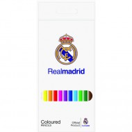 Set 12 creioane colorate FC Real Madrid