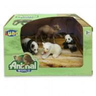 Set 4 figurine Animale Salbatice Animal World 621058