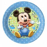 Set 8 farfurii de unica folosinta 20 cm Baby Mickey Mouse Disney Baby