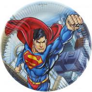 Set 8 farfurii de unica folosinta 23 cm Superman