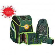 Set ghiozdan ergonomic Wild and Dangerous echipat
