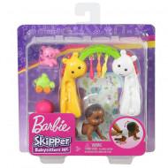 Set papusa bebelus Barbie brunet si accesorii Barbie Skipper Babysitter