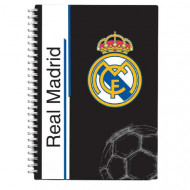 Caiet de notite A6 cu spirala Real Madrid 80 pagini
