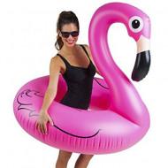 Colac gonflabil Flamingo Urias roz