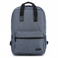 Ghiozdan rucsac laptop Ars Una Urban AU-8 gri-albastrui 42 cm