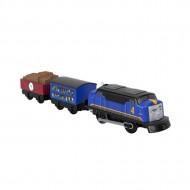 Locomotiva motorizata Gustavo cu doua vagoane Thomas si Prietenii Track Master