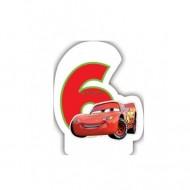 Lumanare tort cifra 6 Fulger McQueen Cars