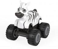 Masinuta metalica Zebra Truck Blaze si Masinile Uriase