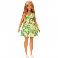 Papusa Barbie in rochie cu imprimeu tropical Barbie Fashionistas