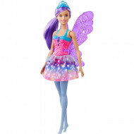 Papusa Barbie zana cu par mov Barbie Dreamtopia