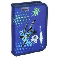 Penar 3D echipat cu parti pliabile Football Goal albastru-inchis Spirit 50 piese