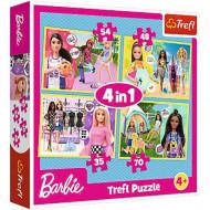 Puzzle Barbie 4 in 1 Trefl