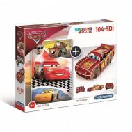 Puzzle Cars + Puzzle 3D Clementoni 104 piese