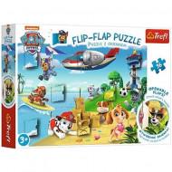 Puzzle Flip-Flap Patrula Catelusilor Trefl 36 piese