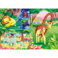 Puzzle Jungle Friends Clementoni 3x48 piese