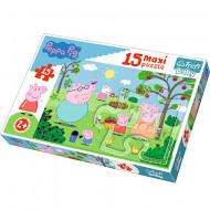 Puzzle Maxi Purcelusa Peppa 15 piese