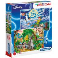 Puzzle Peter Pan si Cartea Junglei Clementoni 2x60 piese