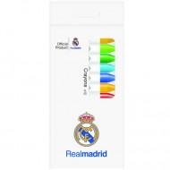 Set 12 creioane cerate FC Real Madrid