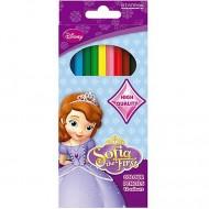 Set 12 creioane colorate Printesa Sofia