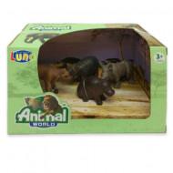 Set 4 figurine Animale Salbatice Animal World 621057