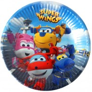 Set 8 farfurii de unica folosinta Super Wings