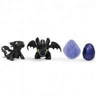 Set de joaca 2 figurine Toothless si ou How to Train Your Dragon