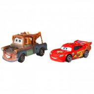 Set de masinute metalice Fulger McQueen si Bucsa Cars
