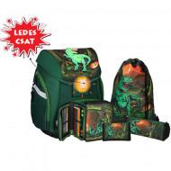 Set ghiozdan ergonomic 3D T-Rex echipat