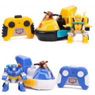 Set masinute cu telecomanda Bumblebee vs Chase Transformers Rescue Bots Academy Transformers Rescue Bots Academy