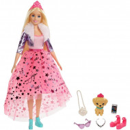 Set papusa Barbie cu par blond si accesorii Barbie Princess Adventure