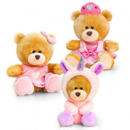 Urs de plus roz Keel Toys 14 cm - trei variante