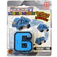Vehicul transformabil Cifra 6 Lansator de rachete Pocket Morphers 2