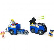 Set de joaca 2 in 1 Chase Split-Second Vehicle Patrula Catelusilor