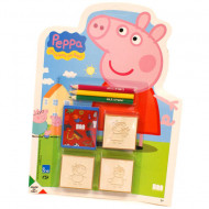 Set creativ 3 stampile si 3 creioane colorate Purcelusa Peppa