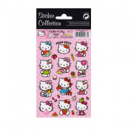 Abtibilduri mari Hello Kitty cu buline 12 bucati