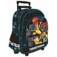 Ghiozdan troler Optimus Prime si Bumblebee Transformers 41 cm