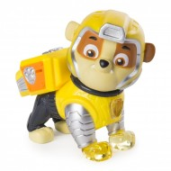 Figurina articulata cu lumini Rubble Mighty Pups Patrula Catelusilor