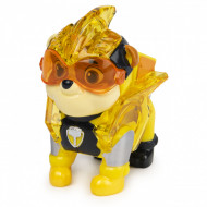 Figurina cu lumini Rubble Patrula Catelusilor Mighty Pups Charged Up