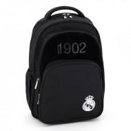 Ghiozdan Ergonomic Laptop Real Madrid Negru cu 3 compartimente 45 cm