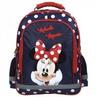 Ghiozdan ergonomic Minnie Mouse cu 3 compartimente 38 cm