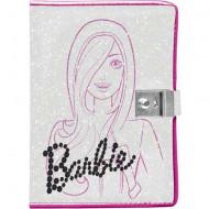 Jurnal sclipitor cu lacat Barbie