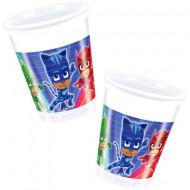 Pahare de plastic pentru petrecere Eroi in Pijama