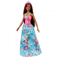 Papusa Barbie bruneta cu suvita roz Barbie Dreamtopia