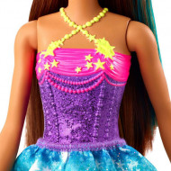 Papusa Barbie bruneta cu suvita verde Barbie Dreamtopia
