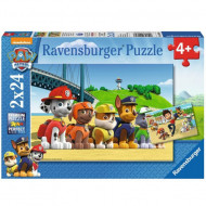 Puzzle Echipa Patrula Catelusilor Ravensburger 2x24 piese