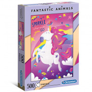 Puzzle Fantastic Animals Sparkle wherever you go Clementoni 500 piese