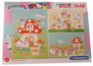 Puzzle Hello Kitty Clementoni 3x48 piese