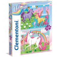 Puzzle I Belive in Unicorns Clementoni 2x20 piese